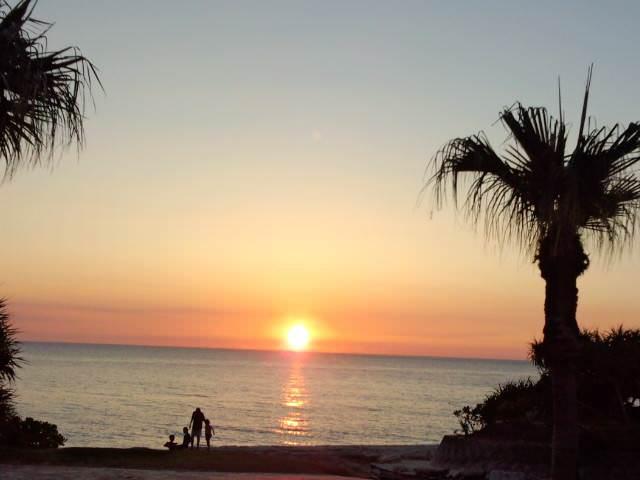 Beautiful Sunset in Ohama Beach